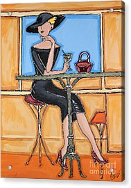 Lady In Waiting With Martini Acrylic Print