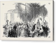 Lady John Russells Assembly On Wednesday Evening Acrylic Print by English School