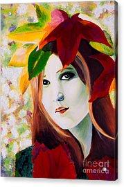 Lady Leaf Acrylic Print