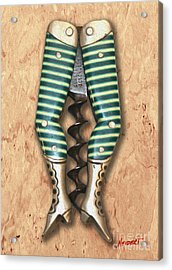 Lady Legs Corkscrew Painting Acrylic Print by Jon Neidert