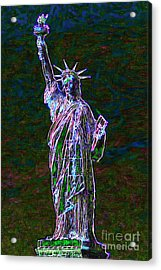 Lady Liberty 20130115 Acrylic Print by Wingsdomain Art and Photography
