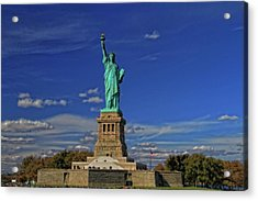 Lady Liberty In New York City Acrylic Print by Dan Sproul