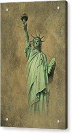 Lady Liberty New York Harbor Acrylic Print by David Dehner