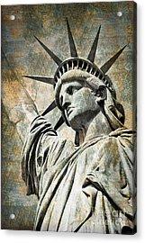 Lady Liberty Vintage Acrylic Print