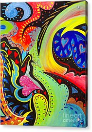 Acrylic Print featuring the painting Lady Love by Nancy Cupp