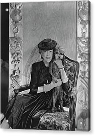 Lady Mendl With Her Poodle Acrylic Print