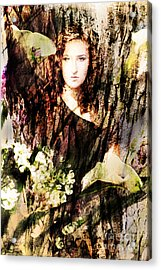 Lady Of Bark Acrylic Print