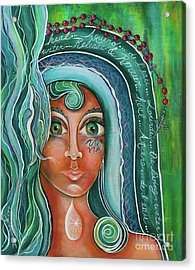 Lady Of Lourdes Madonna Acrylic Print by Deborha Kerr