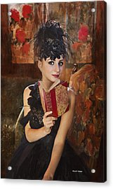 Lady Of Means In Olden Times Acrylic Print by Angela A Stanton