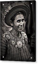 Lady Of Santiago Atitlan Acrylic Print by Tom Bell