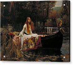 Lady Of Shalott Acrylic Print by John William Waterhouse