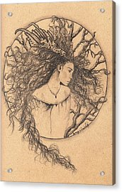 Lady Of The Forest Acrylic Print by Tamyra Crossley
