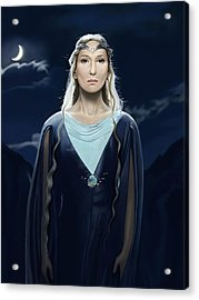 Lady Of The Galadrim Acrylic Print by Andrew Harrison