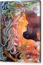 Lady Of The Grapes Acrylic Print