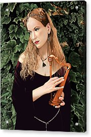 Lady Of The Harp Acrylic Print by Andrew Harrison