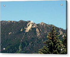 Lady Of The Rockies Butte Montana Acrylic Print by Larry Stolle