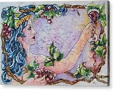 Lady Of The Vine Acrylic Print
