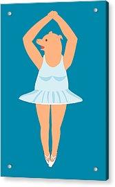 Lady Pig In A Tutu Acrylic Print