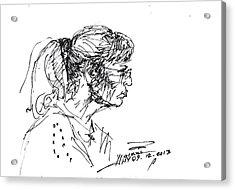 Lady Profile Acrylic Print by Ylli Haruni