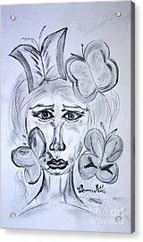 Lady Queen Of Butterflies Acrylic Print