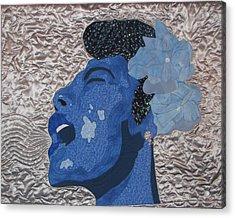 Lady Sings Acrylic Print by Aisha Lumumba