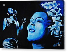 Lady Sings The Blues Acrylic Print by Ka-Son Reeves