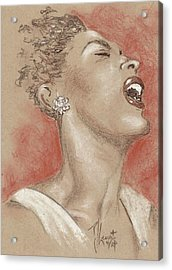 Lady Sings The Blues Acrylic Print by P J Lewis