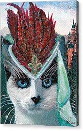 Lady Snowshoe Acrylic Print