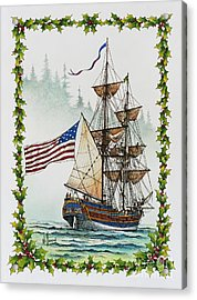 Lady Washington And Holly Acrylic Print by James Williamson