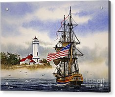Lady Washington At Point Wilson Lighthouse Acrylic Print by James Williamson