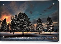 Lady Winter  Bringing A Cold Snap Acrylic Print by Jeff S PhotoArt