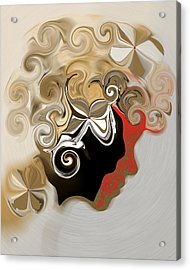 Lady With Curls Acrylic Print