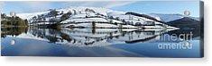 Ladybower Winter Panorama Acrylic Print