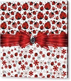 Ladybug Magic Acrylic Print by Debra  Miller