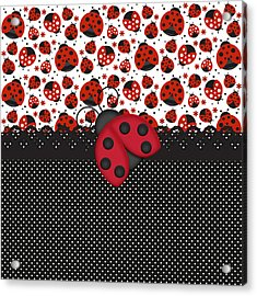 Ladybug Mood  Acrylic Print by Debra  Miller