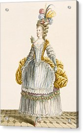 Ladys Ball Gown, Engraved By Dupin Acrylic Print by Pierre Thomas Le Clerc