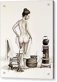 Lady's Bath 1890's Acrylic Print