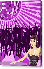 Ladys Night Illustration Acrylic Print