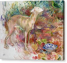 Laerte The Greyhound Acrylic Print by Berthe Morisot