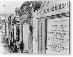 Lafayette Cemetery Black And White Acrylic Print