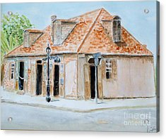 Lafitte's Blacksmith Shop Acrylic Print by Katie Spicuzza