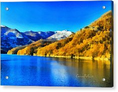 Acrylic Print featuring the photograph Lago Del Brugneto - Brugneto Lake by Enrico Pelos