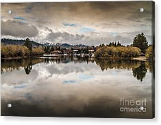 Lagoon At Cove East Acrylic Print by Mitch Shindelbower