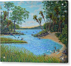 Lagoon At Hunting Island 2 Acrylic Print