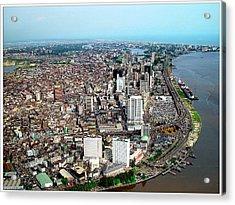 Lagos Acrylic Print by Alex Bartel/science Photo Library