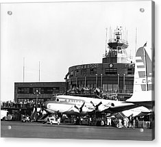 Laguardia Airport In Queens Acrylic Print by Underwood Archives