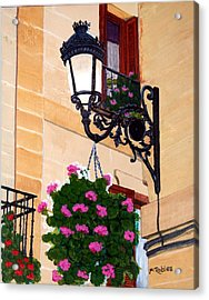 Laguardia Street Lamp  Acrylic Print by Mike Robles