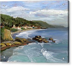 Laguna Beach Acrylic Print by Alice Leggett