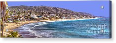 Acrylic Print featuring the photograph Laguna Beach Coast Panoramic by Jim Carrell