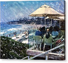 Laguna Beach Hotel Afternoon Acrylic Print